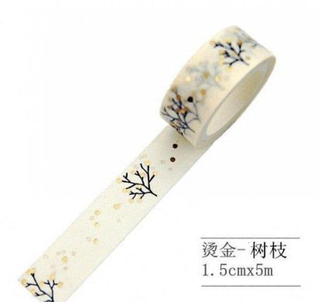Jonvon Satone Masking Tape Japanese Bronzing Ironing Silver Decoration Labels Diary Hand Book Washi Scrapbooki bbyGDZ soif