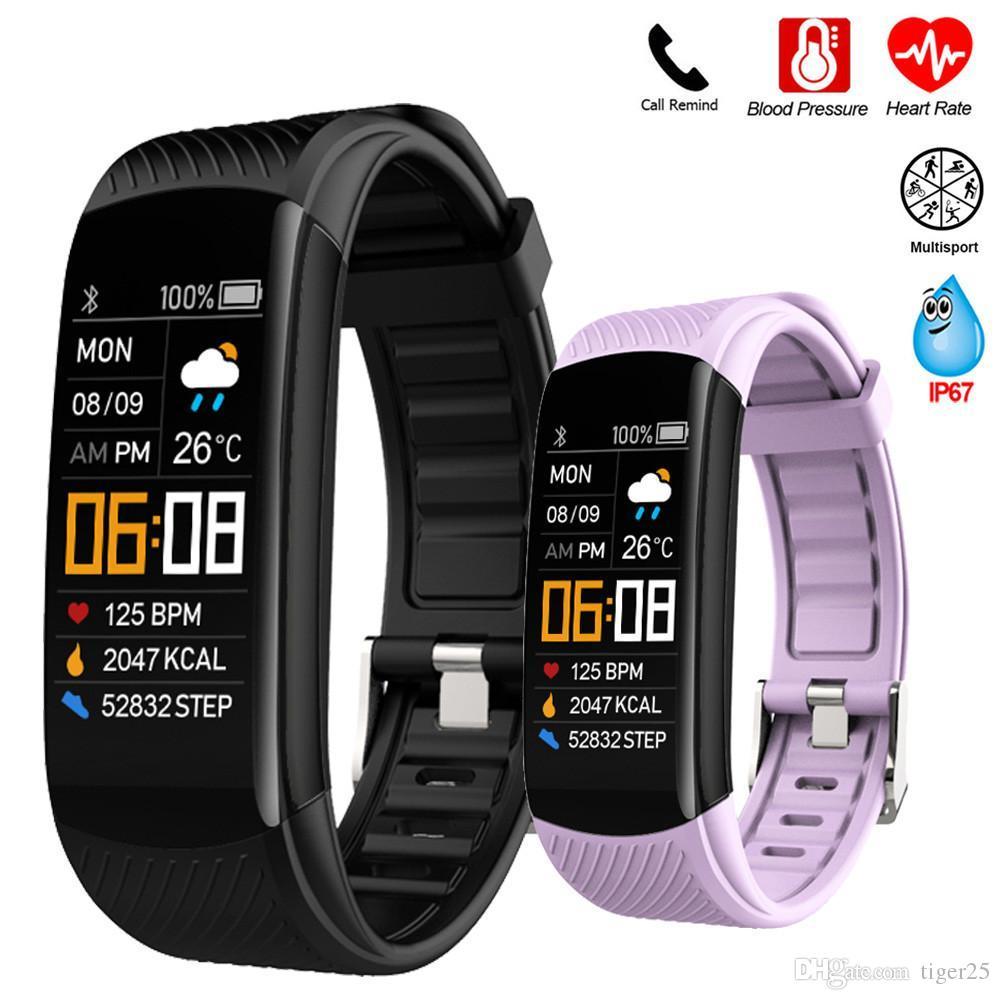Smart pulseira relógio monitor de pressão arterial monitor fitness rastreador pulseira inteligente relógio de freqüência cardíaca monitor inteligente banda relógio homens mulheres
