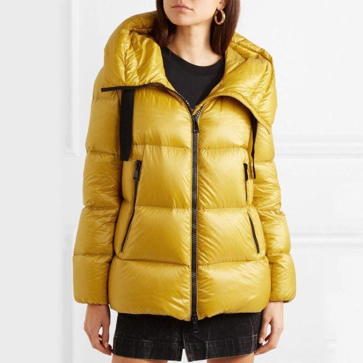 المرأة سترة النساء أزياء الشتاء بانخفاض سترة جودة عالية أصفر وردي أسفل عارضة ستر معاطف الشتاء في الهواء الطلق ستر إمرأة أبلى دافئ