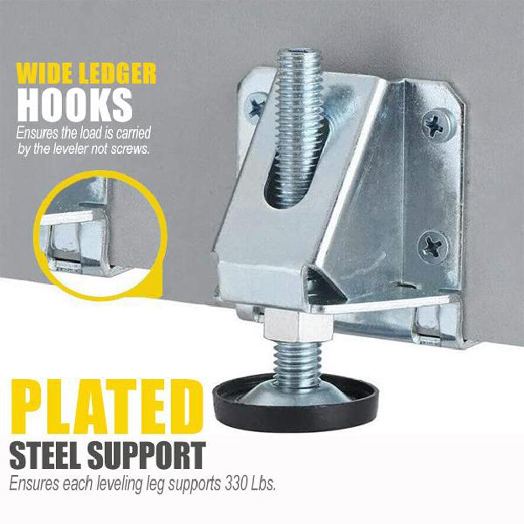 Heavy Duty Foot Wardrobe Level Adjustment Anti-slip Foot Pad Adjust Up and Down Wardrobe Height Adjuster Hardware Parts