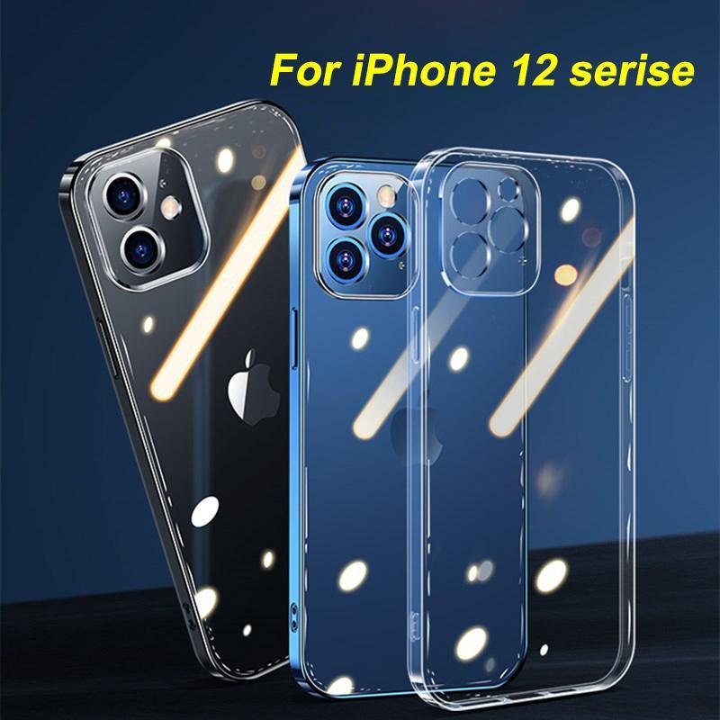 Объектив камеры Защита Crystal Clear Case для iPhone 12 Pro Max Прозрачный Мягкий ТПУ полное покрытие iPhone 12 Mini задней стороны обложки