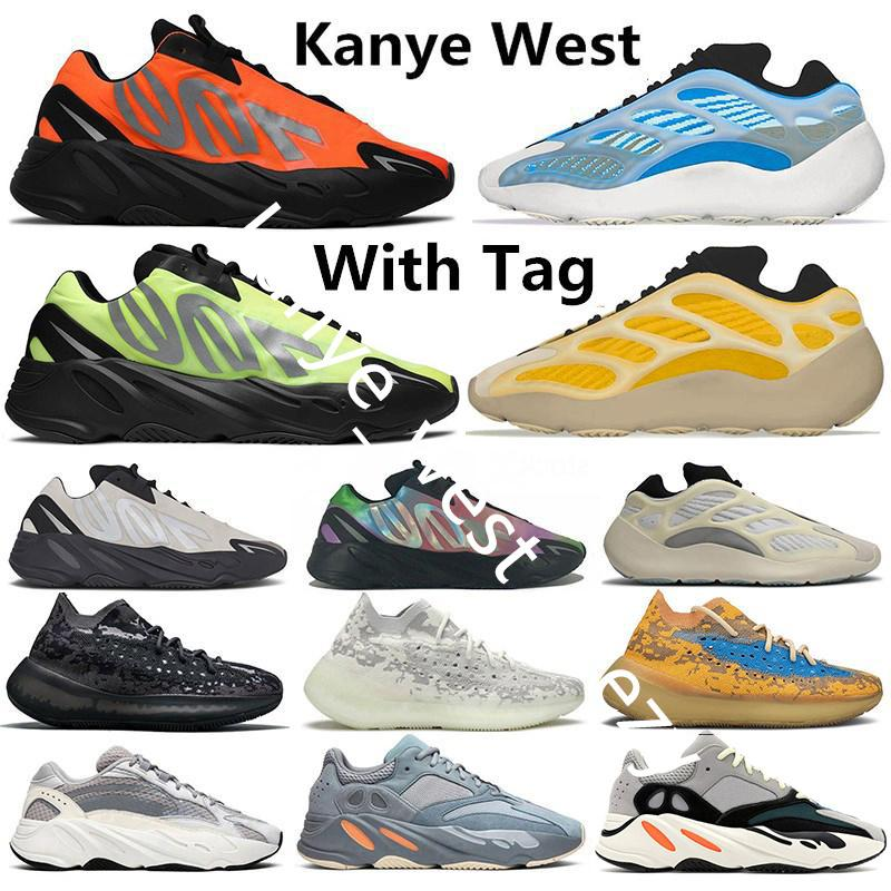 700 Kanye West Srphym Azareth Wave Runner Chaussures de course Azael Alvah Alien Blue Oat Inertia Mauve Tephra Static Femmes Femmes Annuatrices Baskets