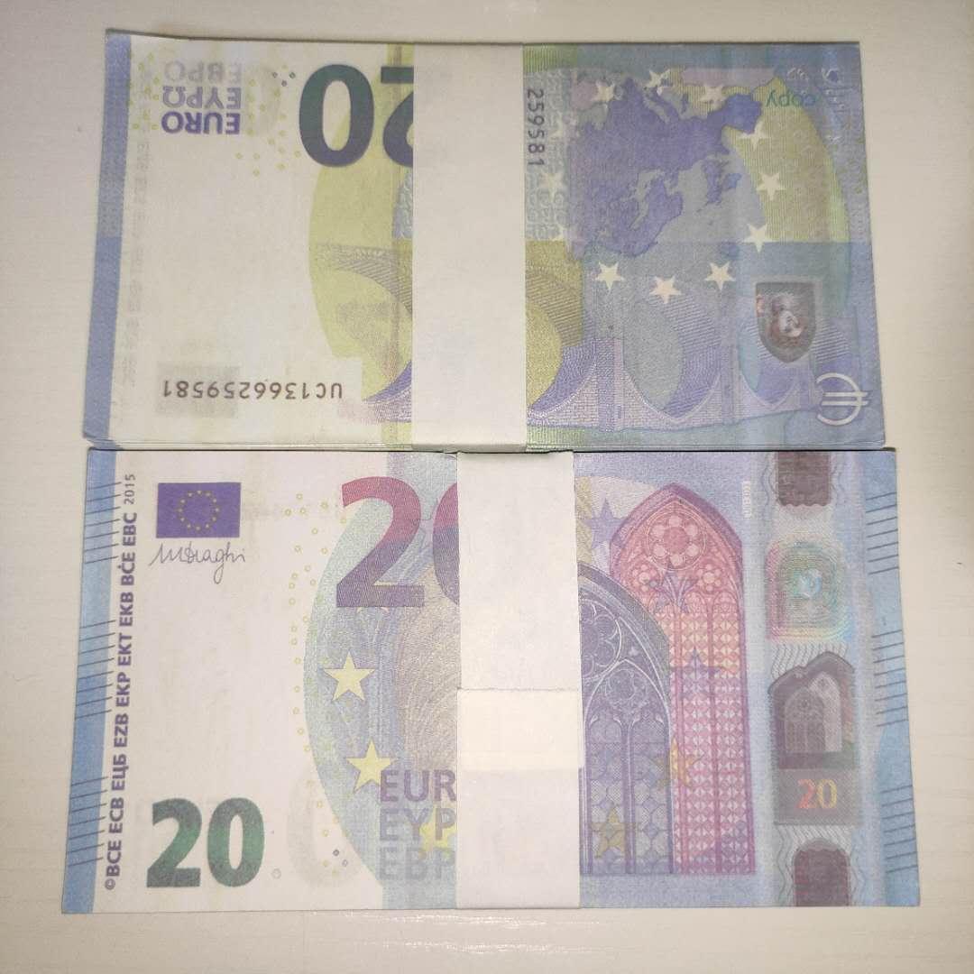 Billet Euro Prop Ticket Hot 20 Toy LE20-17 Props Moneda Faux 2021 Billete de banco Regalo Copia Bar Realista Niños HOHVL