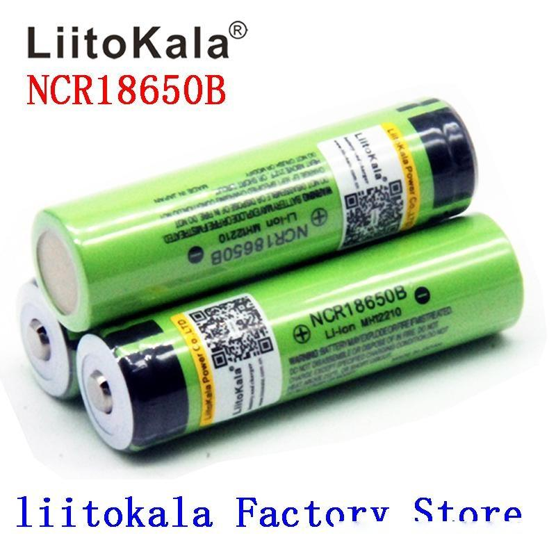 куча Замена батареи 2020 NEW Liitokala 18650 Батарея 3400mAh 3.7V литий-ионная батарея NCR18650B 18650 для фонарика (NO ...