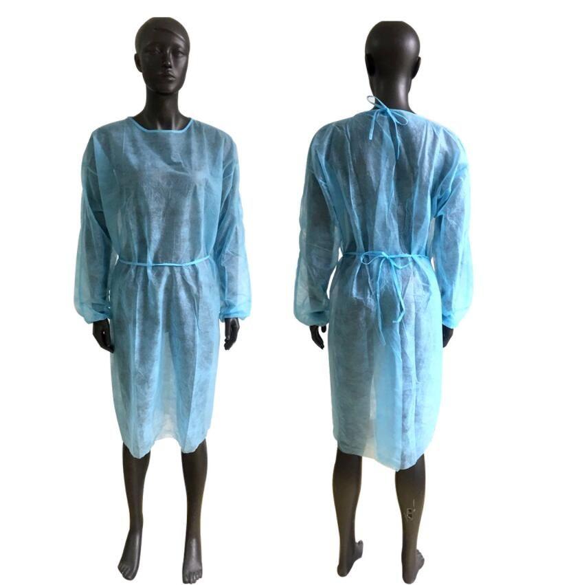 Kıyafeti 3 Renk Unisex Tek Trençkotlar Koruma Mutfak Apron toz geçirmez koruyucu Trençkotlar deniz taşımacılığı CCA12603 Dokumasız