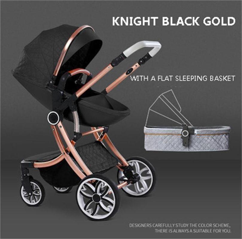 Egg Stroller 2 em 1 carrinho de bebê alta Paisagem Transporte Two Way recém-nascido Car pode sentar-se pode mentir Criança Carrinho de bebé