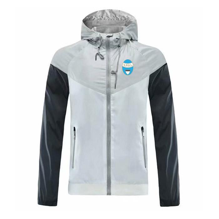 Spal Ветровка ZippeR куртка с капюшоном футбол Ветровка футбол куртка Спортивная полный молния пальто мужские куртки