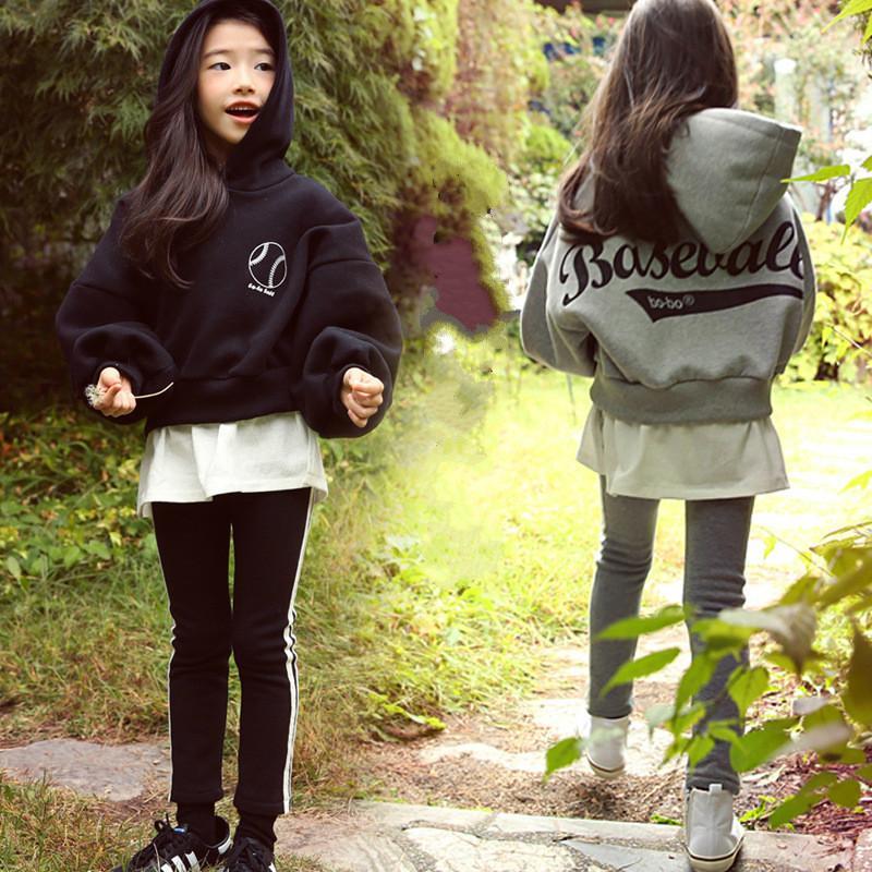 Yüksek Kalite Yeni Bahar Güz Gençler Kız Spor Seti Kadın Çocuk Casual Triko Suit Çocuk Giyim Gençler eşofman CA578X1019