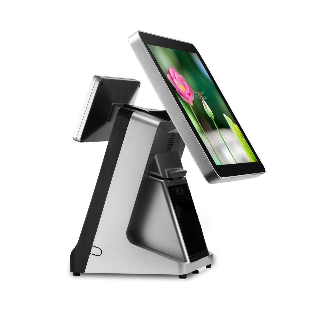 와이파이의 경우 레스토랑 상점에서 듀얼 스크린 15 인치 용량 성 터치 스크린 포스 프린터 전체에서 하나 I5 256G SSD 빌드