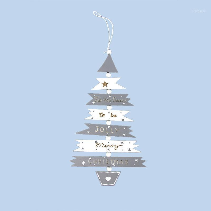 Decorazioni natalizie Top vendita ornamento in legno ornamento di Natale albero pendente sospeso puntelli gadget accessori1
