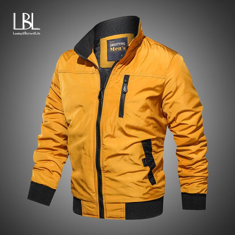 Nuevo casual para hombre de las chaquetas de otoño del resorte militar del ejército capas de la moda de abrigo masculino chaqueta de bombardero Hombres Abrigos Ropa de la marca 201106
