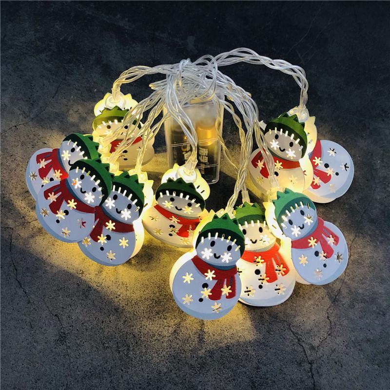 La luz de la Navidad LED cadena de dibujos animados de Navidad con motivos 1.65m 10 LED / 3m 20 LED de Navidad al aire libre luz de la decoración DWE2148