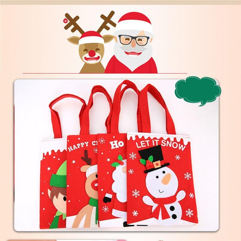 Bonbon de Noël Party Sac cadeau de Noël Décorations de stockage Emballage Wrapper Fournitures de Noël Decora Ornements Cadeaux pour enfants