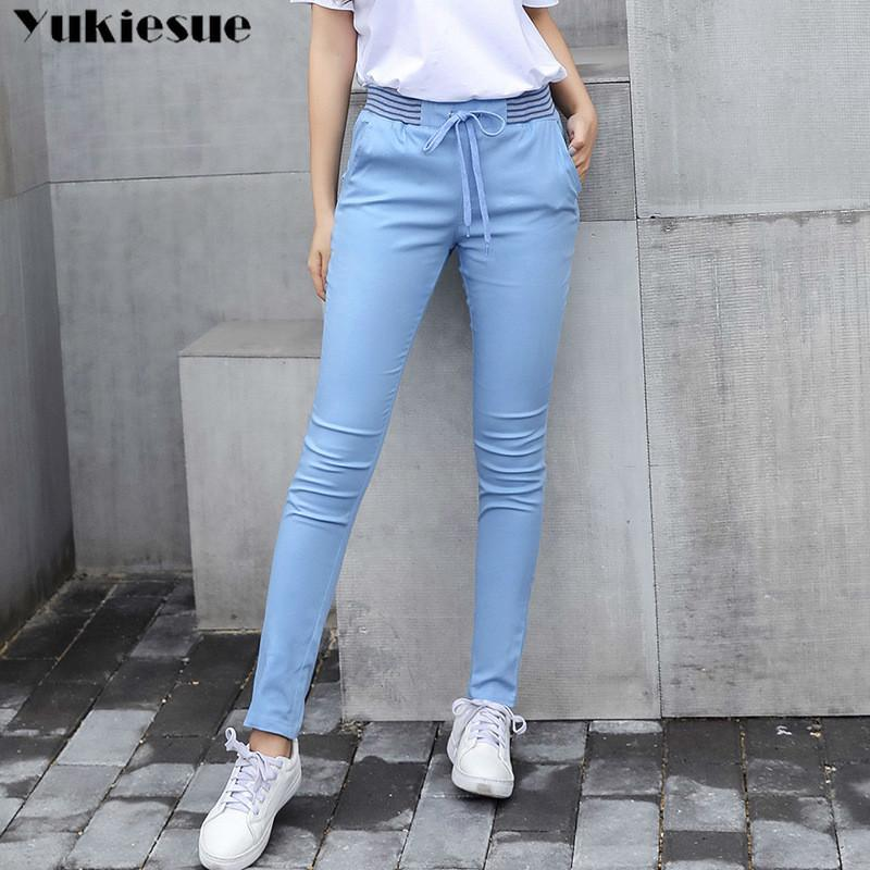 pantaloni streetwear Harem capri donna donne biancheria leggings estate 2019 casuale signora più il tratto di formato lungo sottile pantalon femme 1017