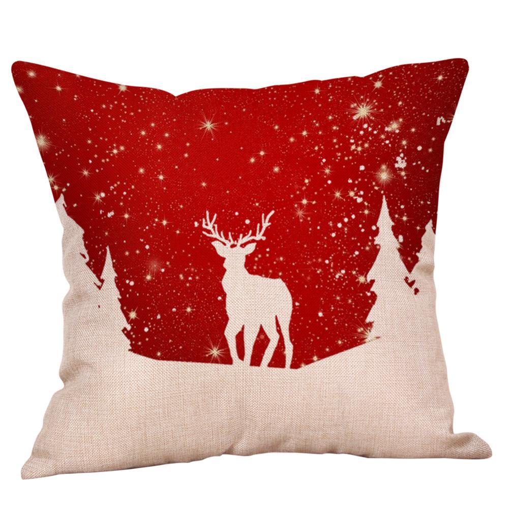vendita diretta 10Factory personalizzato transfrontaliera biancheria nuova esplosione Amazon cuscino di Natale Babbo casa cuscino