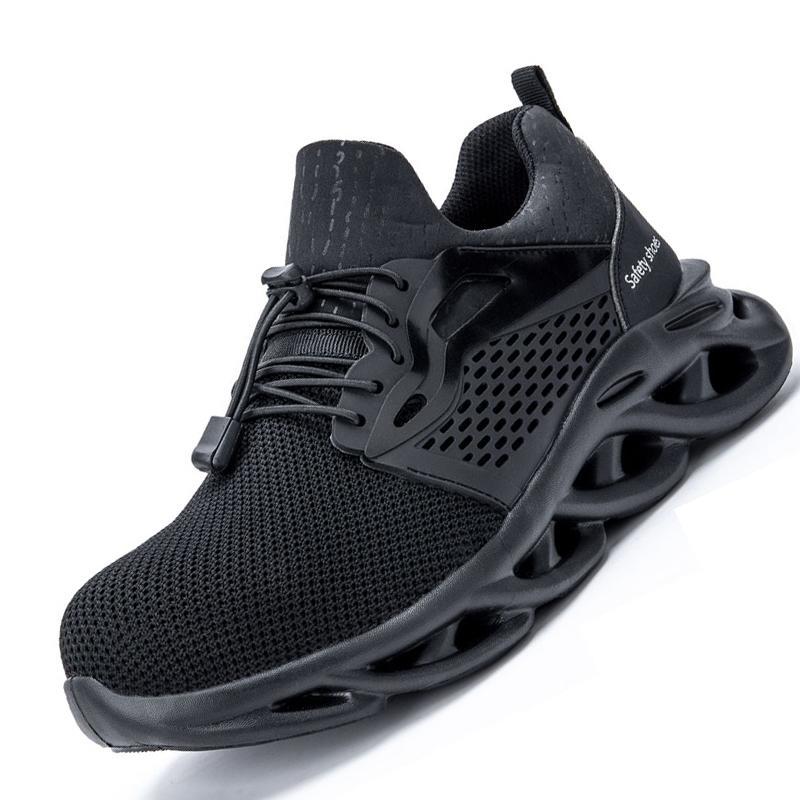 Новейшие мужские легкие стальные пальцы ноги безопасности женские летние летние антибирующие пирсинг рабочая обувь сандалии сетки кроссовки мужчин безопасности мужчин