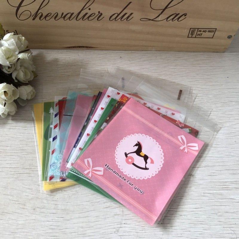 Sobre ihxTG 100 precios accesorios para el cabello DIY 10 * 14cm impresión de envases bolsa de plástico OPP regalo Envases de plástico