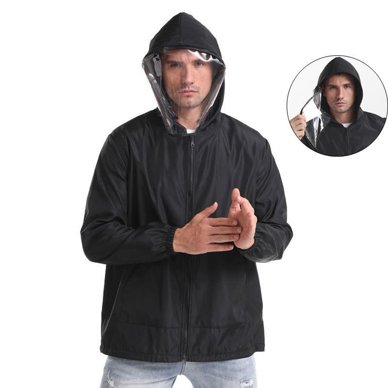 2020 primavera coreano mens ropa del otoño la cremallera de la chaqueta cortaviento negro de poliéster extraíble streetwear abrigos de moda motocicleta