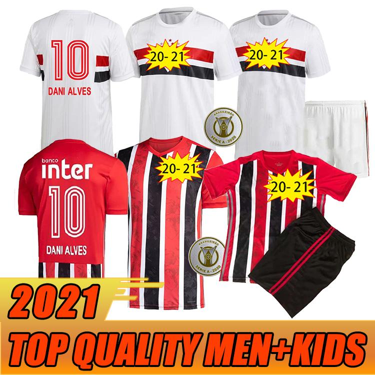 Top Thailand 2020 Sao Paulo Soccer Jerseys Männer Kinder São Paulo 20 21 Pato Juanfran Antony Pablo Reialdo Dani Alves Camisa de Futebol