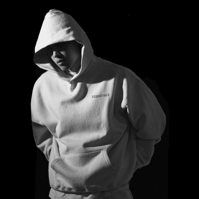 ZuqB 2020 à capuchon gris capuche impression Anime hommes Hip hop coton hommes sweat-shirt à capuche et pull-over noir zébré nouveaux hommes Sweat à capuche
