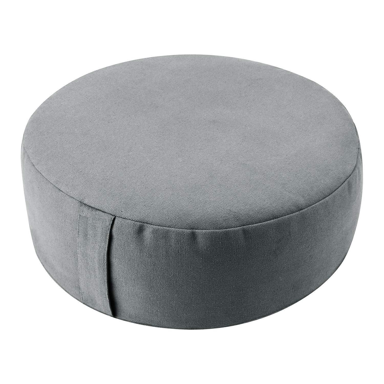 100% algodón duradero lienzo redondo meditación cojín cojín cubierta interior fitness natural alforfón casco yoga zafu cojín cubierta