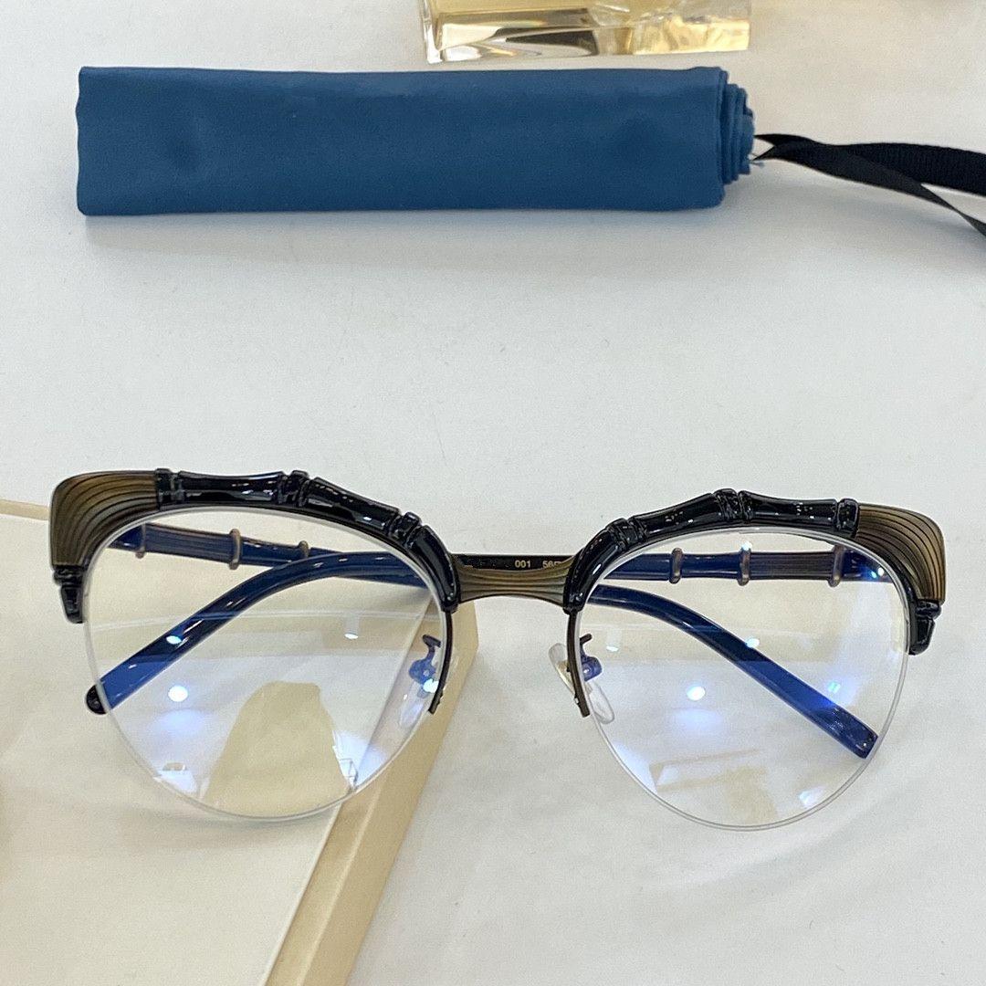 """2021 جديد أزياء نمط الخيزران الإطار نصف إطار نظارات الأزياء مزاجه 0661 الرجال والنساء نفس الحجم 56 """"20"""" 146"""