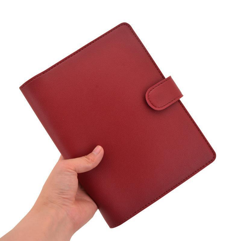 Notepades 2021 T Punorker Notebook Mushroom Hole Planner Couverture A5 B6 Rouge Noir Bleu Journal Business Journal