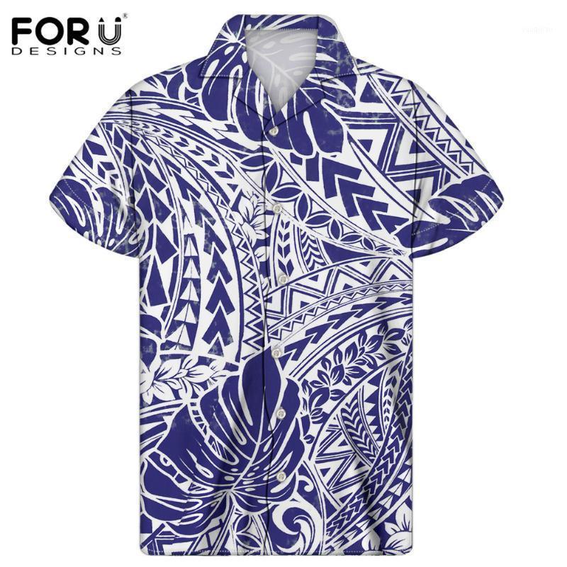 Foredesigns Nafy Blue Tops Hawaiian стиль летний пляж короткие рубашки взрослые мужские повседневные тундовые воротник блузки Homme Chemise1