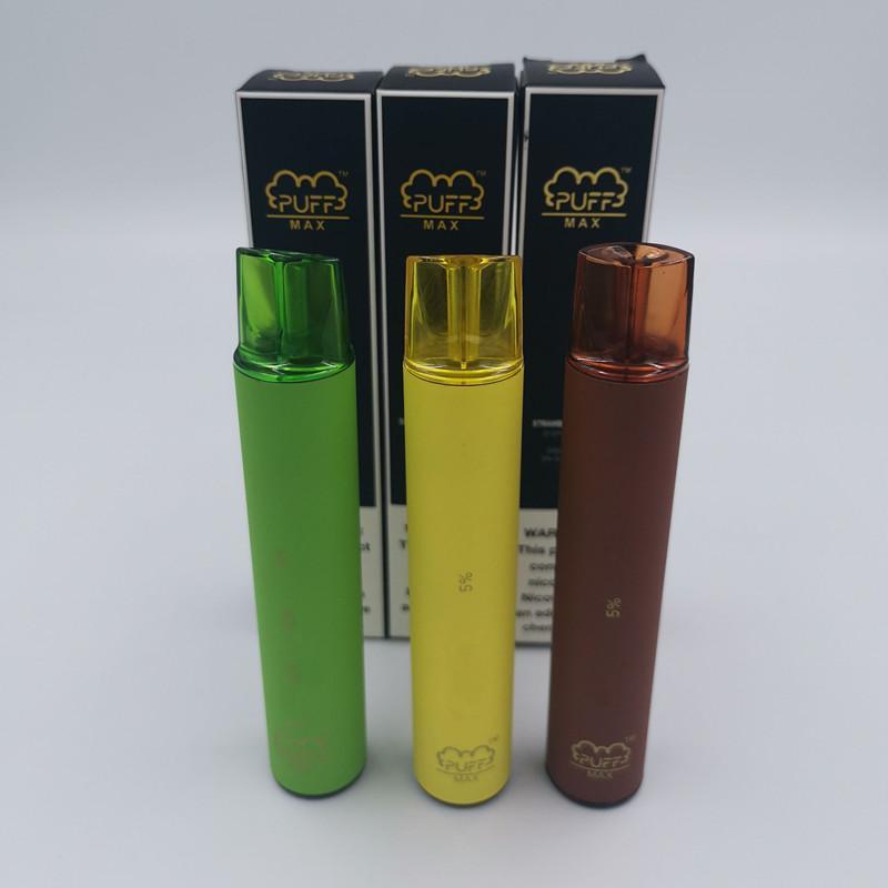 Puff Max Disposable Vape Device 1200mAh Battery 2000 Puffs 8.5ml PreFilled Vape Pods Stick Vape Pen Cartridges VS Puff Plus Hyppe Max