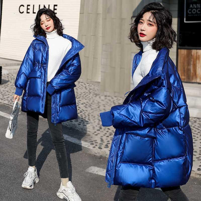 Женская Яркая Средняя и Длинная Зима 2020 Новый Корейский Свободные Хлеб Хлопковая мягкая куртка