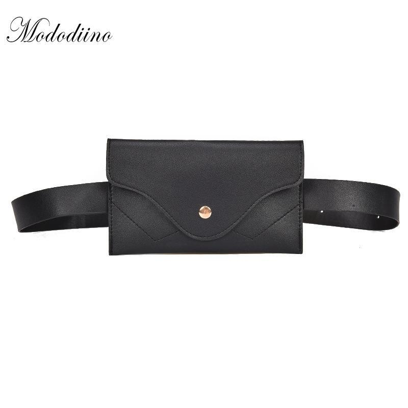 Mododiino sólida simple Mini Paquetes de la cintura correa del bolso de la manera de piedra del golpeteo bolsas de hombro para mujer Bolsas multifunción de cuero PU DNV0491