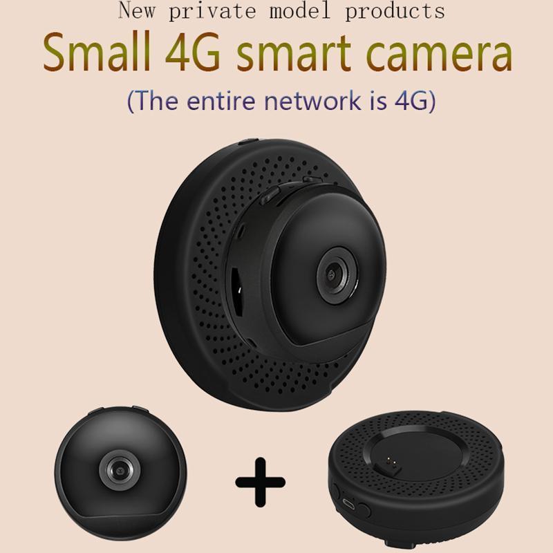미니 카메라 Samll 4G 카메라 2021 클라우드 스토리지 무선 WiFi HD 1080P 적외선 야간 투시경 홈 보안 아기 모니터 모션 탐지