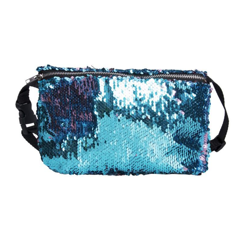 Fanny Solid 2020 Women Woman Bum Pack de moda Glitter Cintura de lentejuelas Cinturón Reversible Paquetes de Bolsa Nueva bolsa Paquetes de bolsas con lentejuelas Tkbar