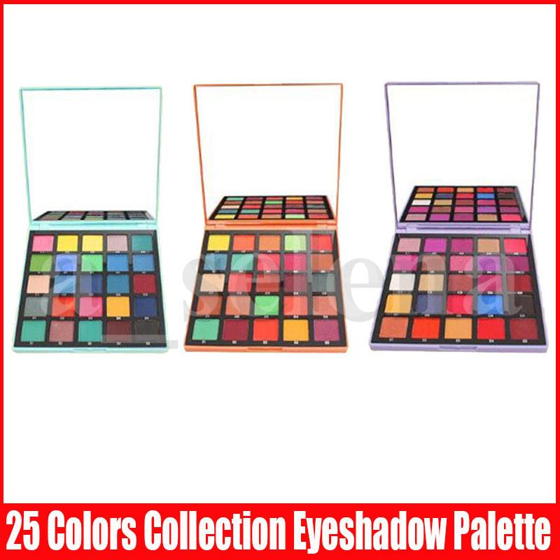 New Eye Makeup Pro Collection 25 Color Eyeshadow Palettes Matte Shimmer Purple Eye Shadow Palette