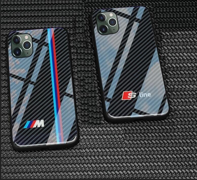 TPU + закаленные стекла Racing Car BMW CARE CARE для Apple iPhone 12 Mini 11 Pro Max 6 6s 7 8 Plus X XR XS MAM SE2 Samsung S8 S9 S10 E S20 S21 Ultra Note 9 Shell Audi VW Cover