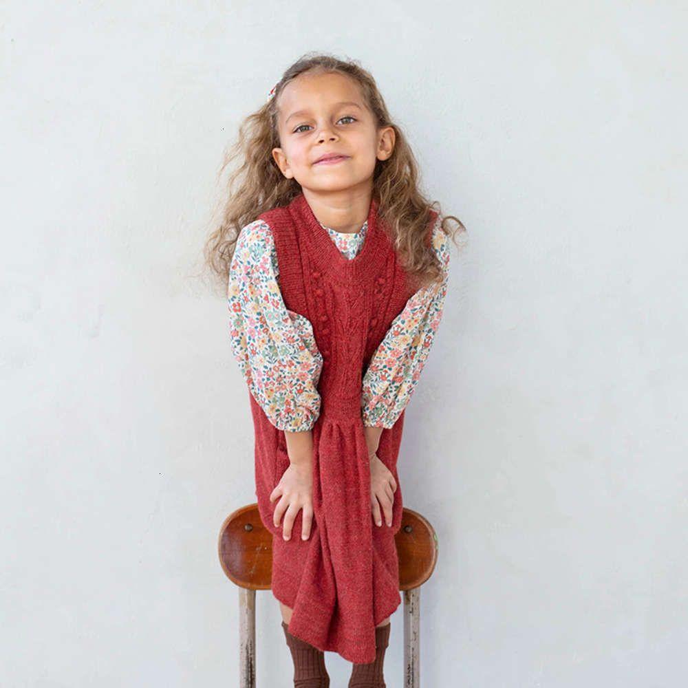 2020 drs and small autumn wear winter medium sized girls' baby svels Crochet knitted Children's skirt FTY1 FTY1