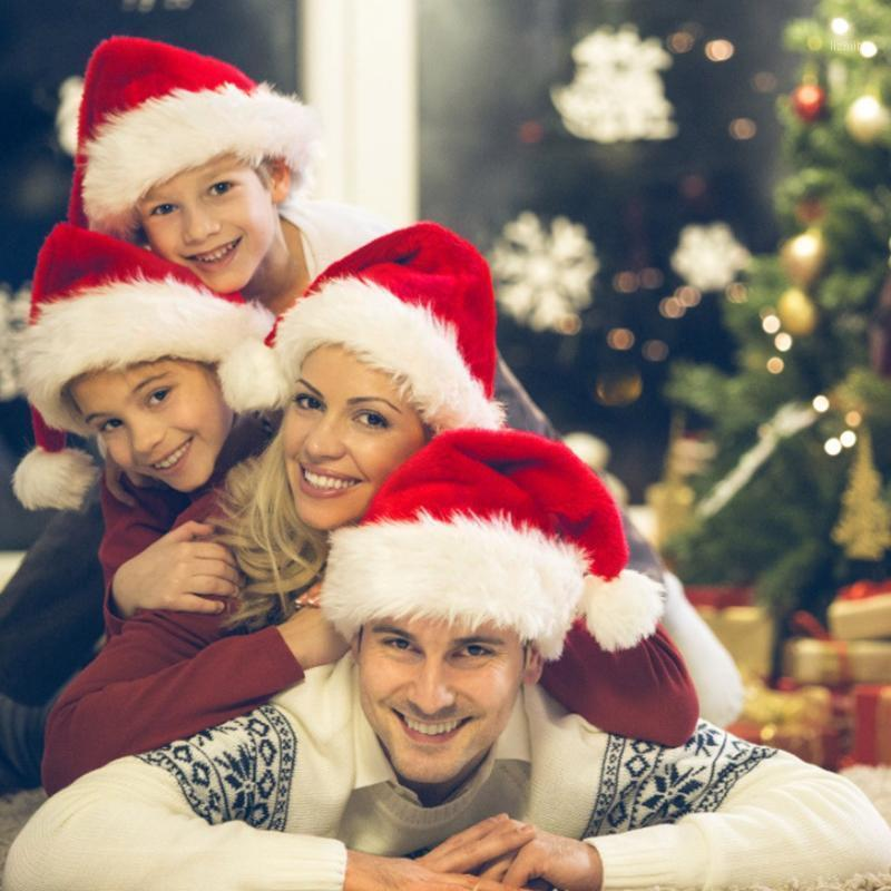 2 / 6pcs Christmas Red Riding Hood Santa Flush Sombrero de Navidad Decoraciones para el hogar Navidad ^ 251