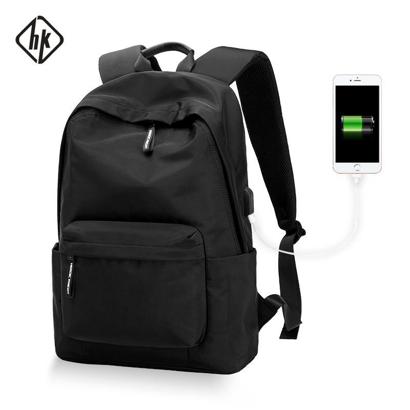 HK Su Geçirmez Okul Rap Monste Oyunu C1008 Çanta Gençler Erkek Kadın Genç Seyahat USB Laptop Sırt Çantası Omuz Çantaları Çanta Öğrenci BNRPV