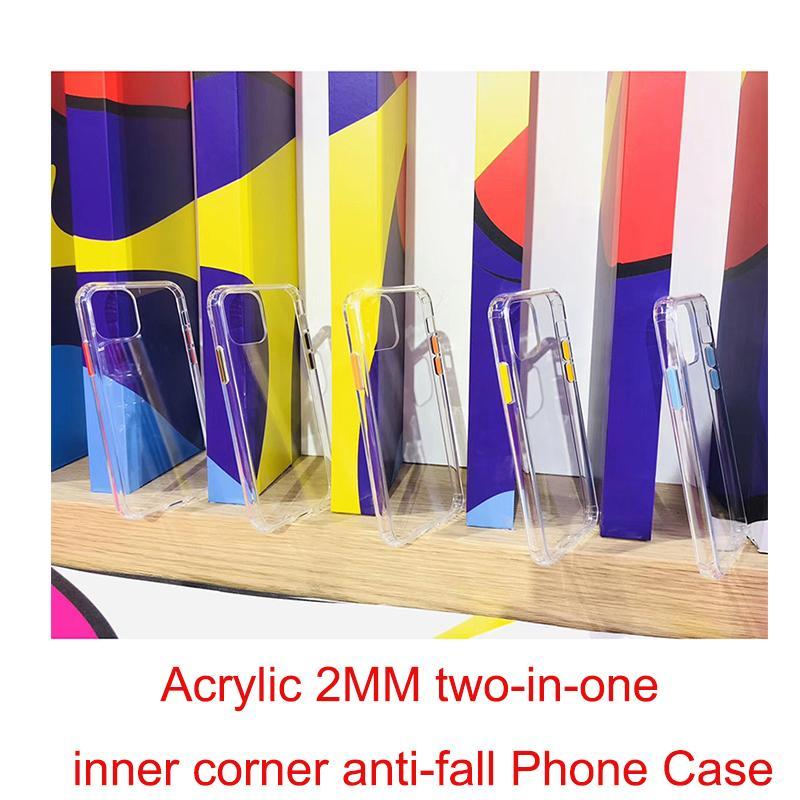 Neue Art Super dicke Acryl 2MM 2 in 1 innere Ecke absturz Fall für IPhone 11 Pro Max Xs 8 7 Plus-Telefon-Kästen Abdeckung Coque Fundas