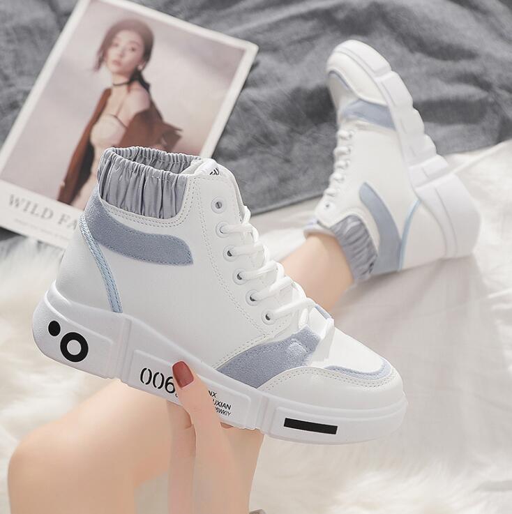2020 осень новые спортивные туфли все-матч высокого верха обуви студент работает плоские ботинки