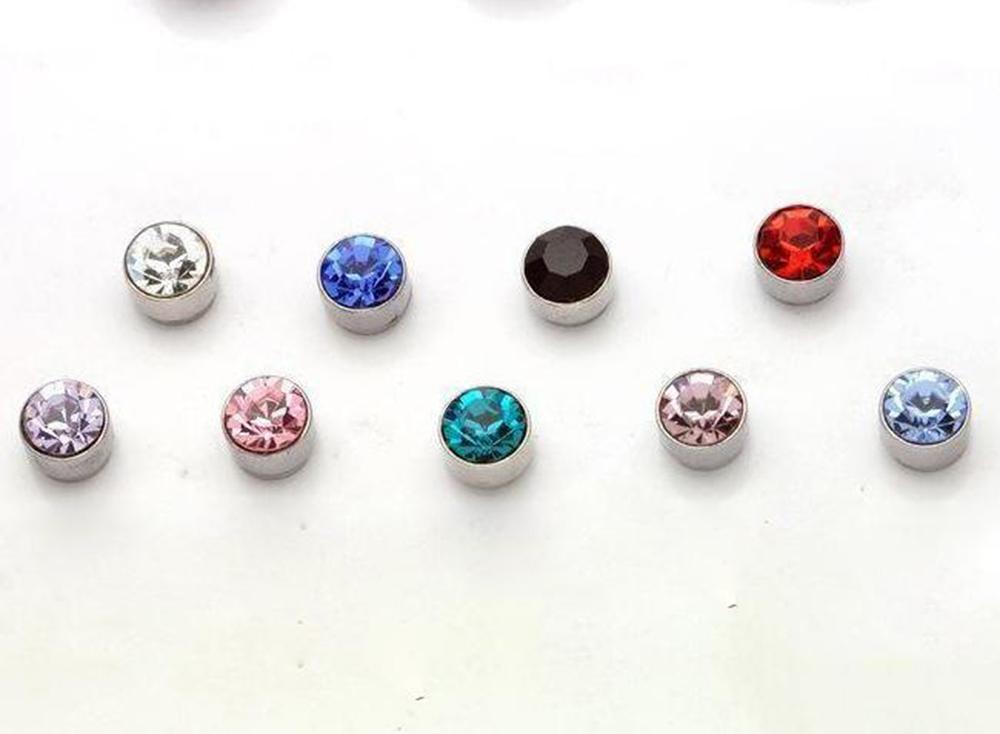 귀걸이 도매 패션 여러 가지 빛깔의 플라스틱 저자 극성 스터드 귀걸이 아름다운 보석 스터드 귀걸이