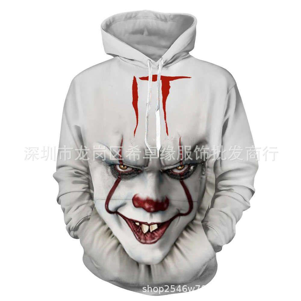 Wolf Collet Clown Soul Series 3D Stampa digitale Maglione con cappuccio