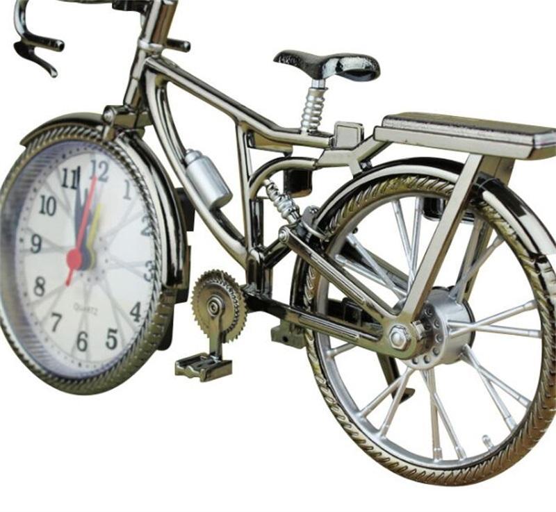 ريترو دراجة شكل المنبه طالب الأسرة أزياء المعادن الجدول الساعات تأثيث المنزل الديكور أصالة 6 5YL J2