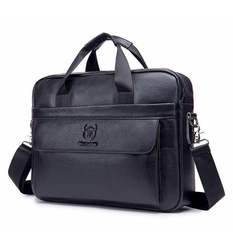 Briefcases maschio 40cm lunghezza borsa da uomo in vera valigetta in pelle uomo laptop naturale per uomo borse a tracolla 2021