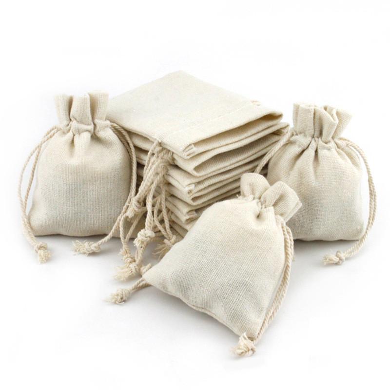 أسعار الجملة الطبيعية الطبيعية jute الكتان الرباط الحقيبة تغليف هدية حقيبة شعار المطبوعة مجوهرات حقيبة عيد الميلاد