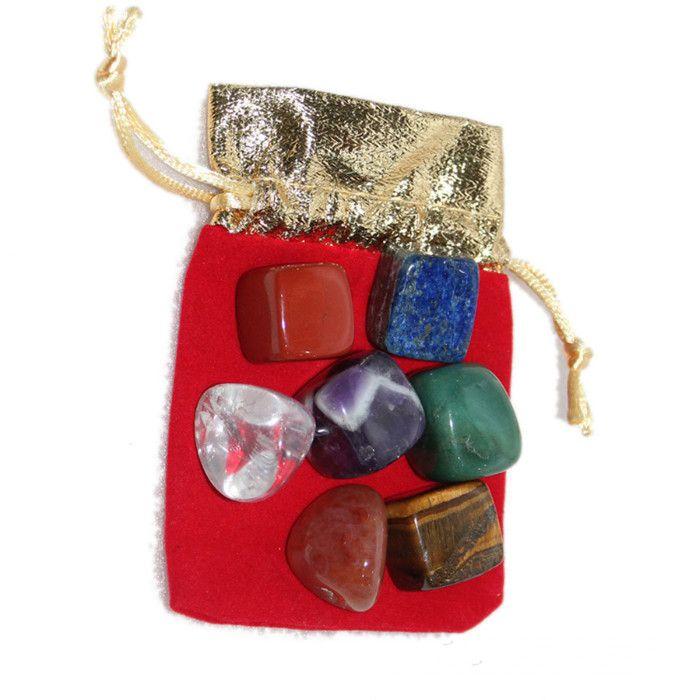 Natural Crystal Chakra Stone 7pcs Set Natural Stones Palm Reiki Healing Crystals Gemstones Home Decoration Accessories YHM673