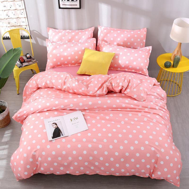 35 Punkt 4pcs Mädchen-Junge-Kind-Bettdecke Set Bettbezug Erwachsene Kinderbett Bettwäsche und Kissenbezüge Tröster Bettwäsche-Set 2TJ-61008