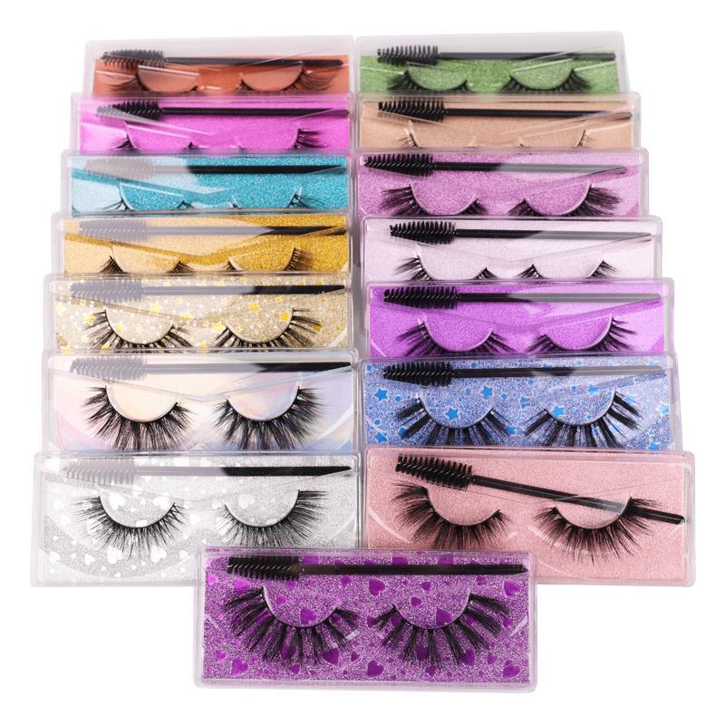 2021 New 3d Eyelashes Eyelashes Eyelashes Eye Lash Caixa de embalagem Mão Faux Mink Eyelashes Custom Logo 30 Pares Grátis FedEx IP Shipping