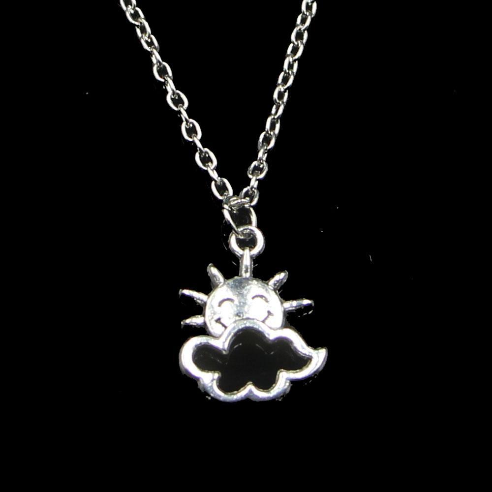 Fashion 20 * 17mm Sun Cloud Pendentif Collier Chaîne de liaison pour collier de ruban à couloir femelle Cadeau de bijouterie créative Cadeau