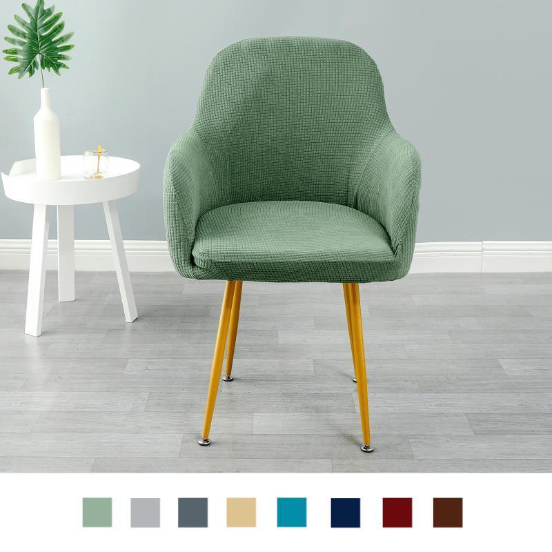Cubiertas para sillas para comedor, funda de asiento de estiramiento suave, protector de silla removible lavable